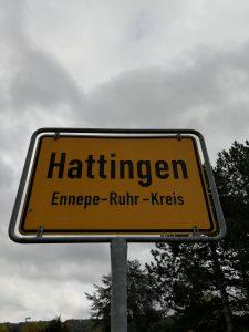 Ortsschild von Hattingen